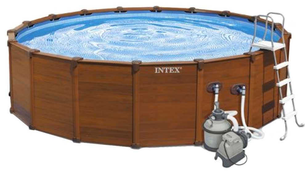 Piscina intex sequoia spirit 478x124 outlet piscinas for Piscina prefabricada madera