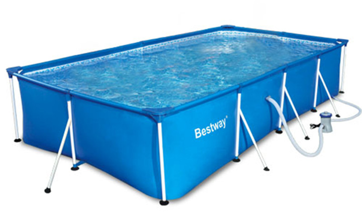Piscina bestway splash frame outlet piscinas for Piscina con patas