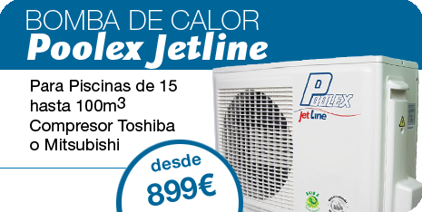 Bomba Calor Poolex jetline para piscina