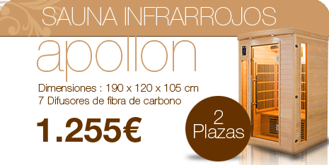 Sauna Apollon 2 plazas