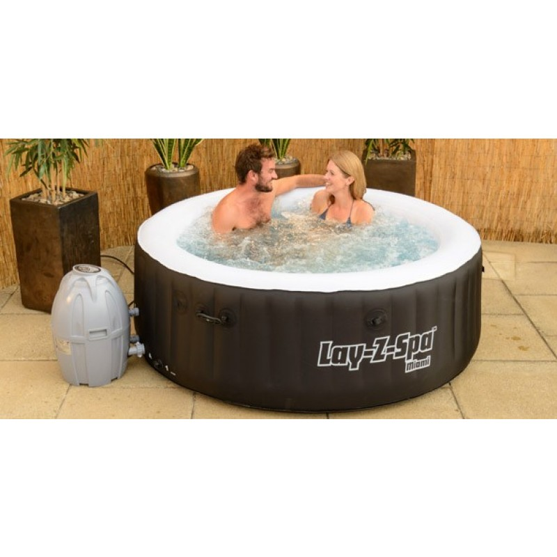 Spa lay z spa miami 4 plazas outlet piscinas for Jacuzzi exterior enterrado