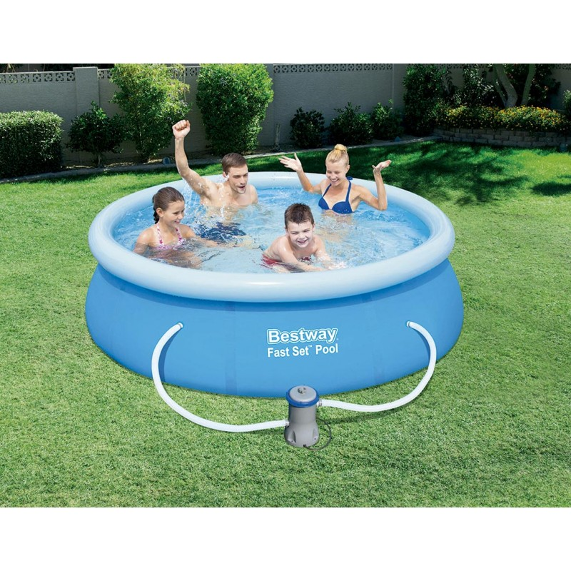 Piscina hinchable bestway fast set 244x66 outlet piscinas for Piscinas hinchables online