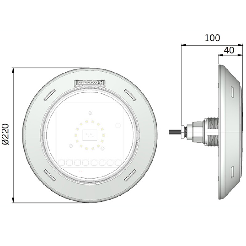 Foco led lumiplus rapid wireless astralpool 62393 outlet - Foco led piscina ...
