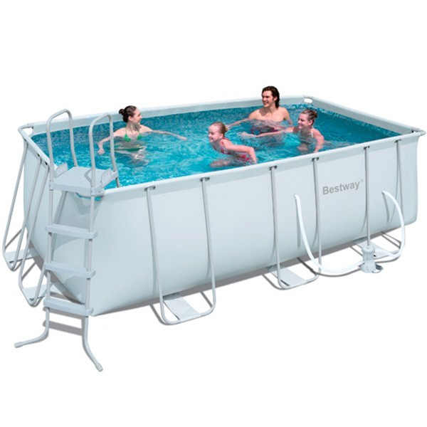 Piscina bestway power steel 412x201x122 outlet piscinas for Outlet piscinas