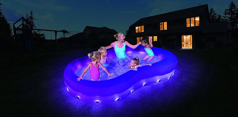 Piscina hinchable iluminada led 54135 outlet piscinas - Iluminacion piscinas led ...