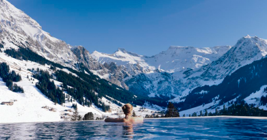 piscina climatizacion invierno paisaje