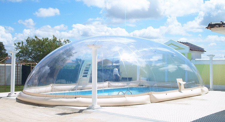 Cubierta hinchable 39 dome jessica 39 outlet piscinas for Prix dome piscine