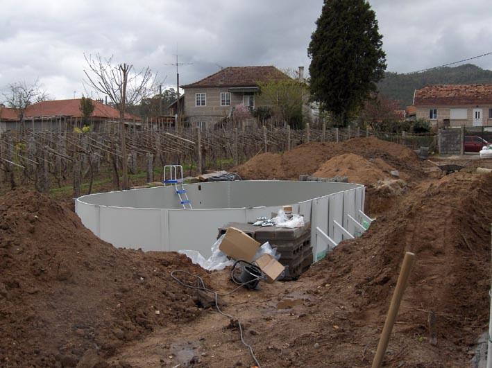 Como enterrar piscina desmontable de acero outlet piscinas - Piscinas de superficie ...
