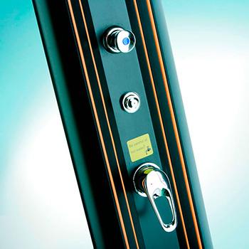 Monomando de control de agua fría y caliente Ducha Solar de Aluminio 32L