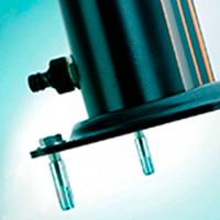 Fijación Suelo Ducha Solar de Aluminio 32L