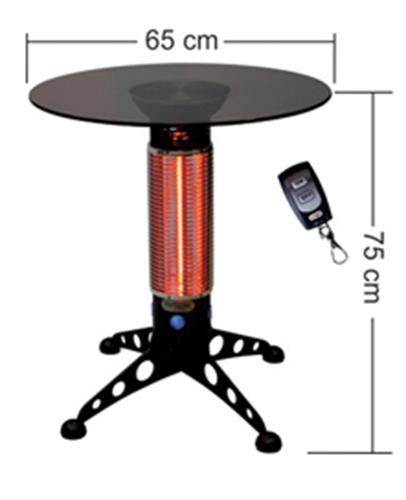 Estufa Mini-mesa Infrarrojos