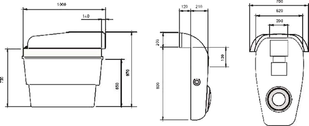 Dimensiones Equipo Compacto Mini Combo con Foco