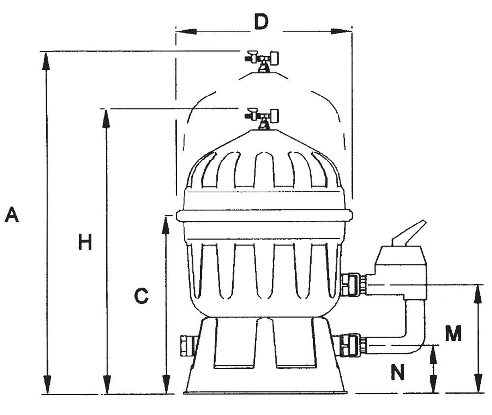 Dimensiones Filtro de Diatomeas CLARITY