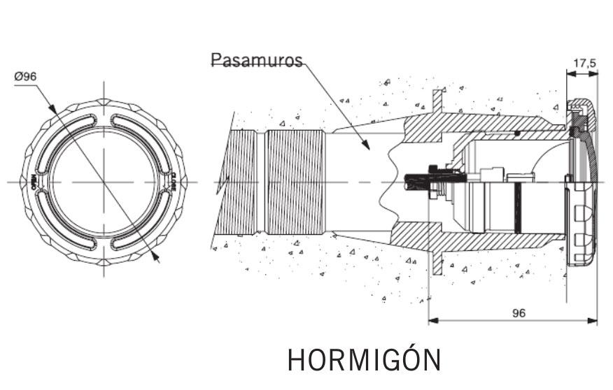 Proyector MINI de plástico acople rápido dimensiones