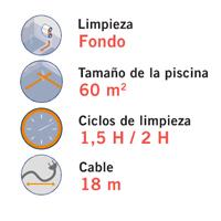 Limpiafondos autom tico h3 duo astralpool outlet piscinas for Como limpiar el fondo de una piscina sin limpiafondos