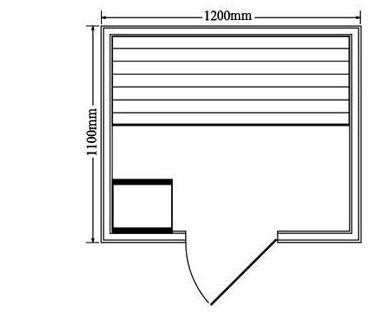 Sauna Vapor Milan 2 Personas Plano