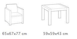 Dimensiones Foto - Set Allegro Balcony
