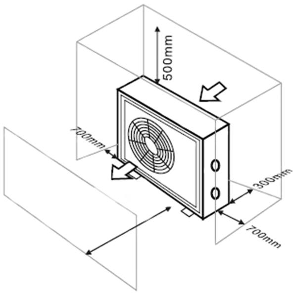 Bomba de calor poweraqua x outlet piscinas for Instalacion de bomba de calor para piscinas