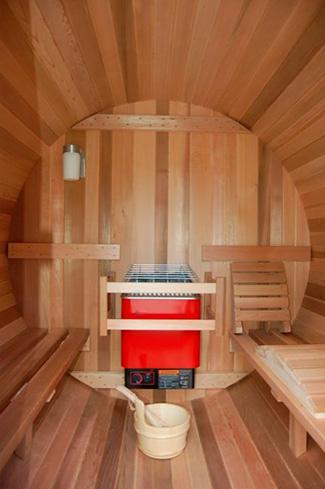 Sauna Barril detalle del interior