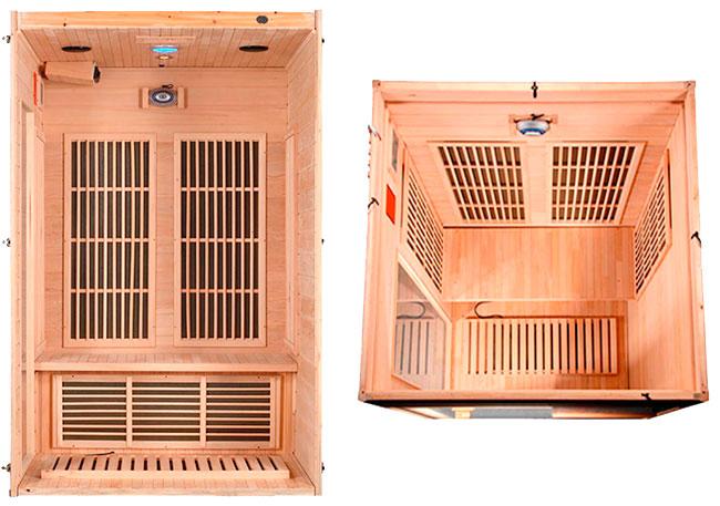 Sauna Infrarrojos Duke interior