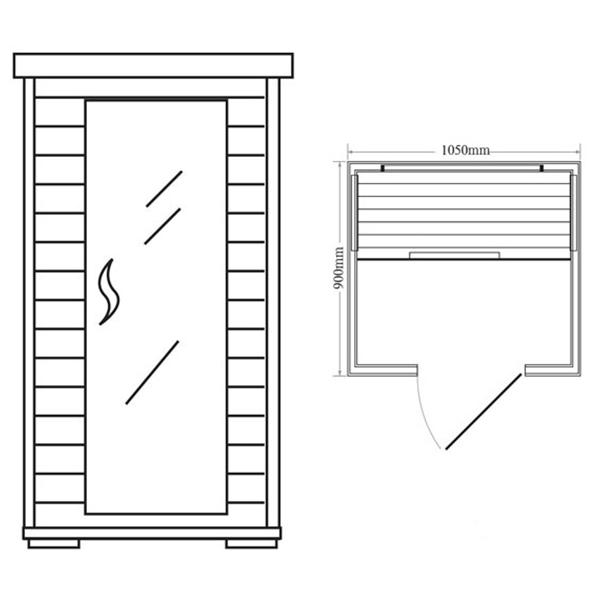 Sauna Infrarrojos Quebec dimensiones