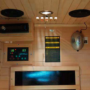 Sauna de Infrarrojos Quebec vista interior