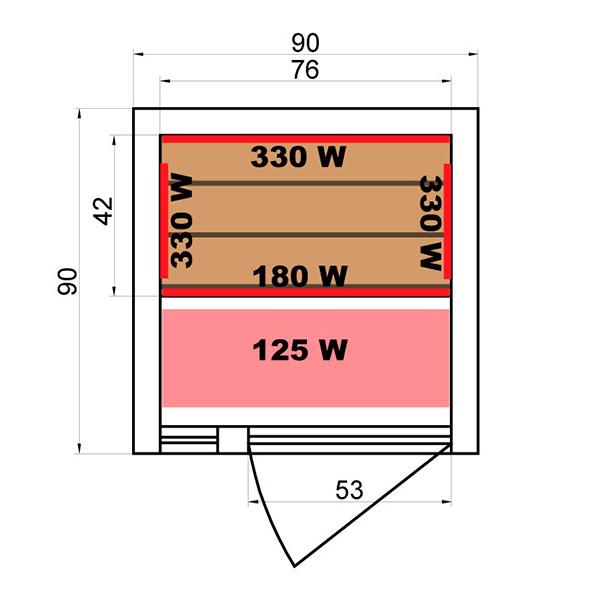 Sauna Infrarrojos Soleil Blanc 1 Plaza Dimensiones