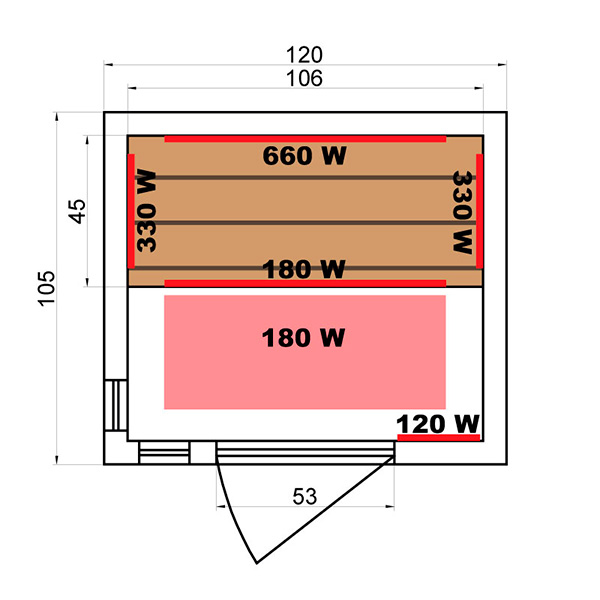 Sauna Infrarrojos Soleil Blanc 2 Plazas Dimensiones