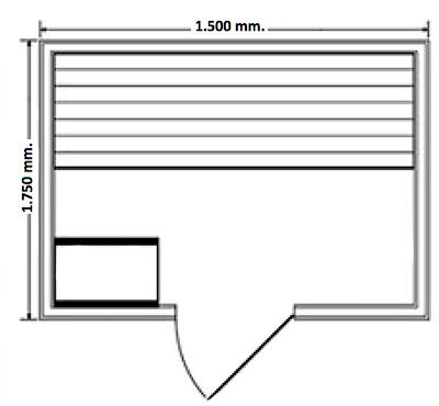 Sauna Vapor Milan 4 Medidas