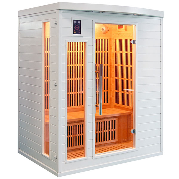Sauna Infrarrojos Soleil Blanc 3 Plazas