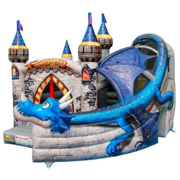 Castillo Hinchable Alquiler De Dragón