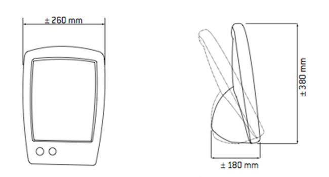 Solarium Facial 175 dimensiones