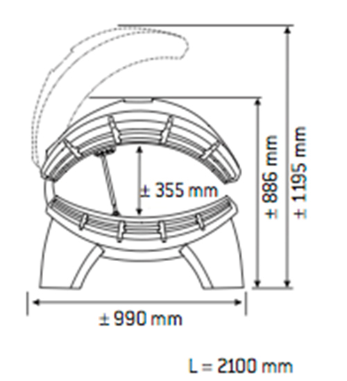 Solarium Jade Combi Dimensiones