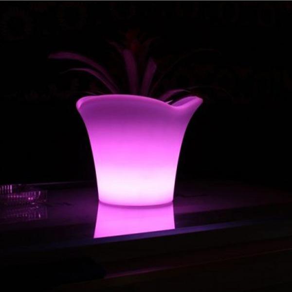 Jarrón Luminoso Lámpara Led 42 x 32 cm