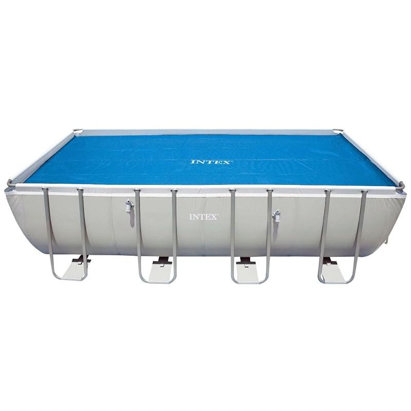 Cobertor solar para piscinas rectangulares intex outlet for Ofertas piscinas desmontables rectangulares