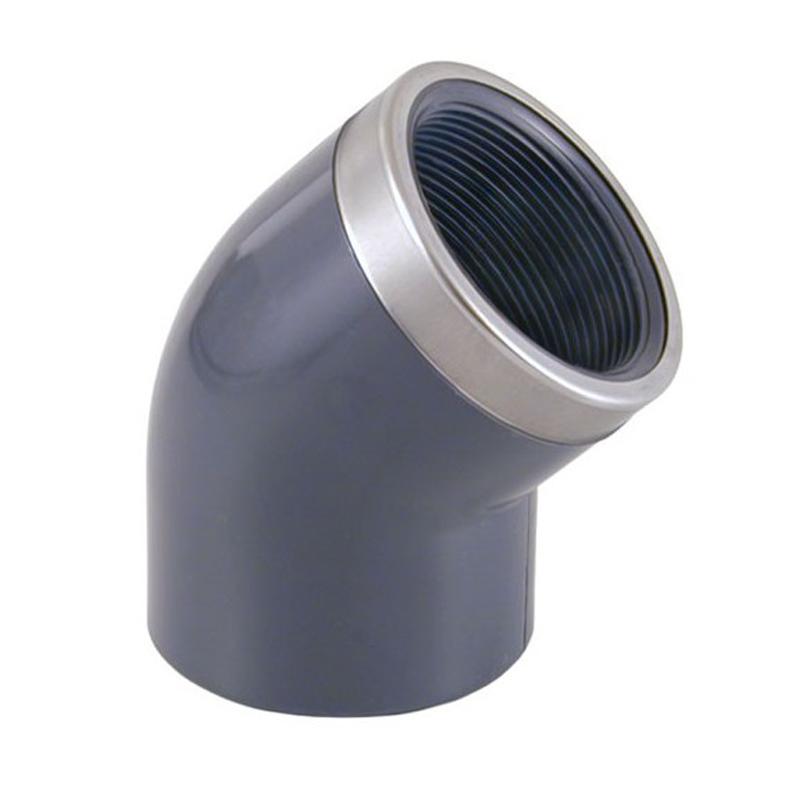 Codo mixto reforzado 45º PVC