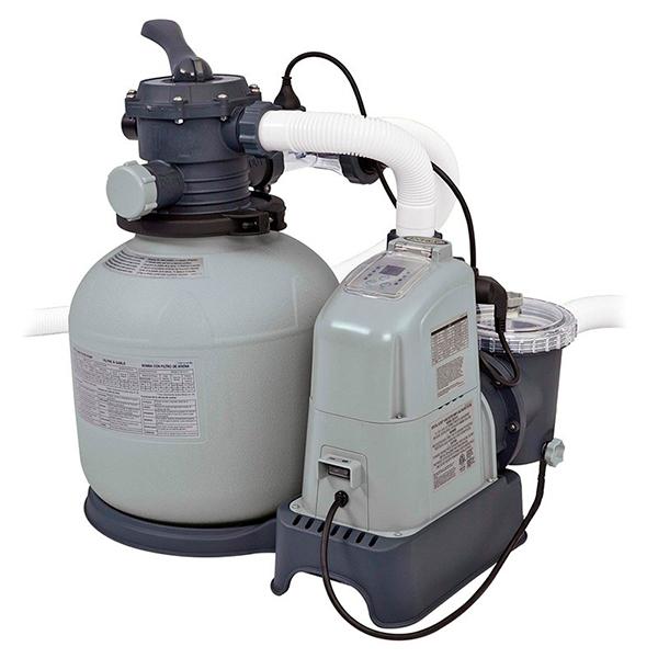 Combo filtro arena + clorador salino  32200L Intex