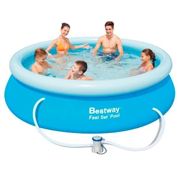 Piscina hinchable bestway fast set 305x76 outlet piscinas - Depuradora piscina hinchable ...