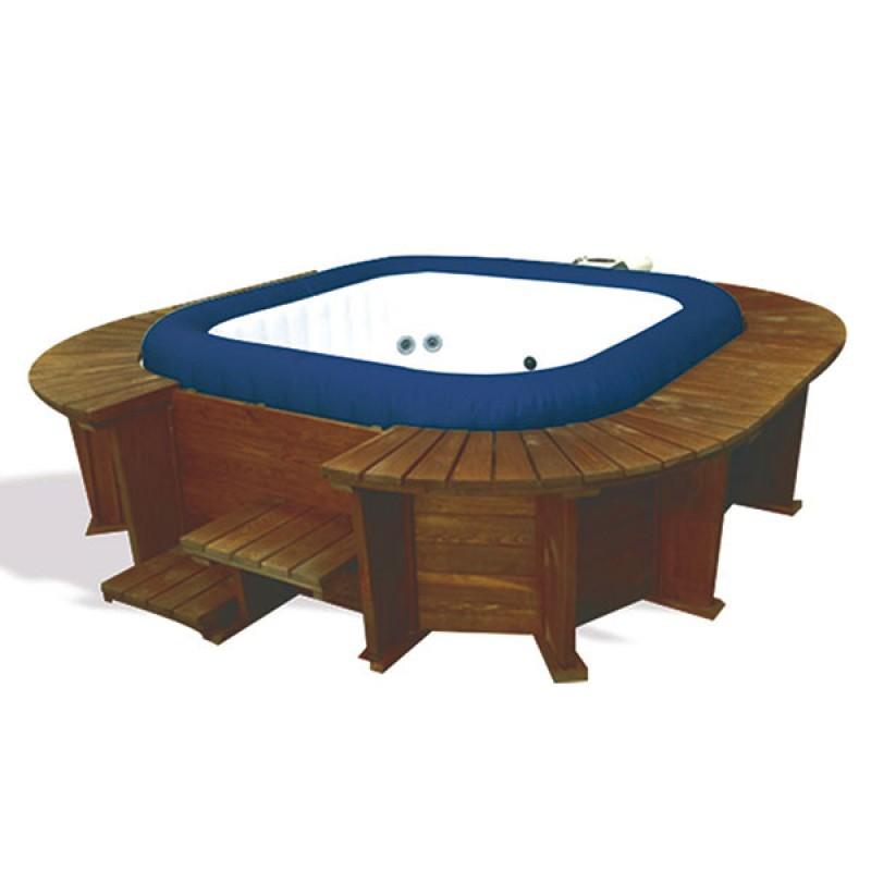 Spa Hinchable Malibu Panelado Madera Outlet Piscinas - Panelado-madera