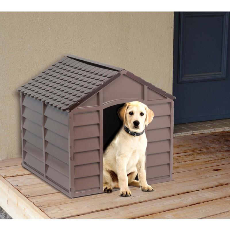 Caseta para perros 71 x 71 x 68cm outlet piscinas - Caseta perro resina ...