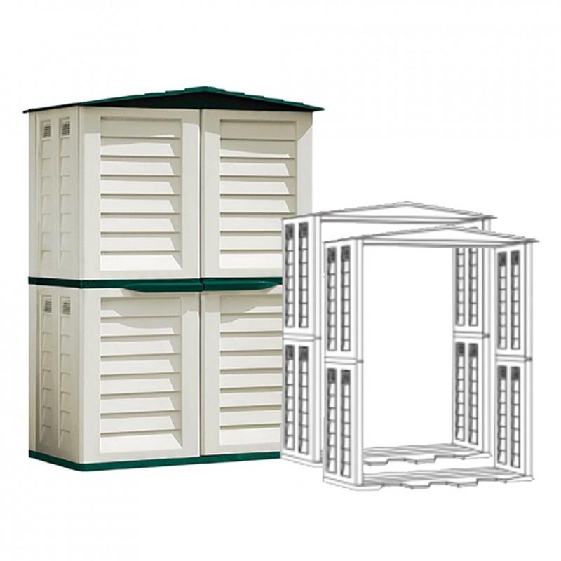 Casetas de pvc para exterior caseta perro resina caseta - Casetas de resina para exterior ...