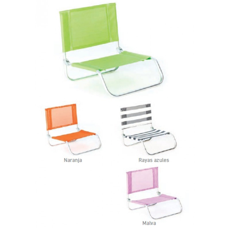 Silla de playa plegable basic outlet piscinas - Silla de playa plegable ...