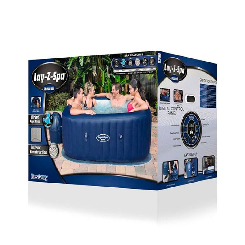 Spa hinchable bestway lay z hawaii 180x180x71 outlet for Oulet piscinas