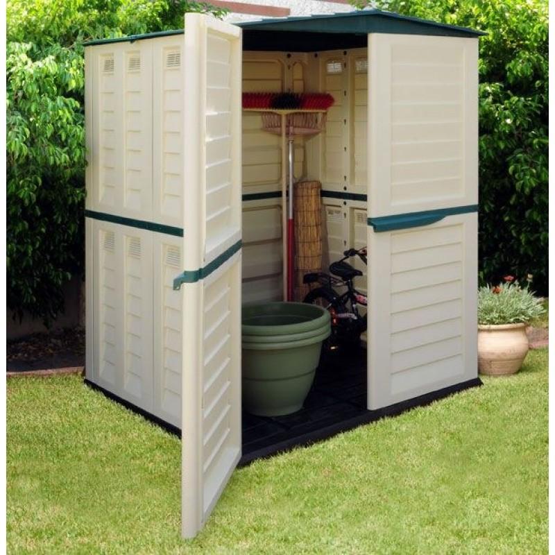 Caseta de resina para exterior outlet piscinas for Guarda herramientas para jardin
