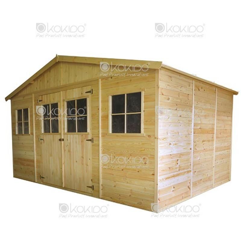 Cobertizo de madera 4 x 3 x m outlet piscinas - Cobertizo de jardin ...
