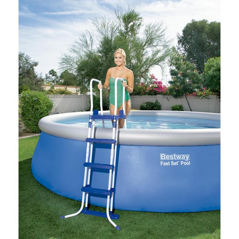 Escalera piscina bestway 122cm 58331 outlet piscinas for Escalera piscina