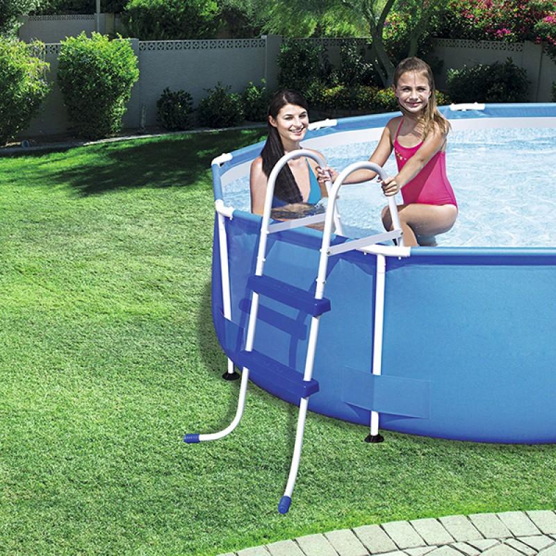 Escalera para piscina bestway 91 cm outlet piscinas for Escalera piscina