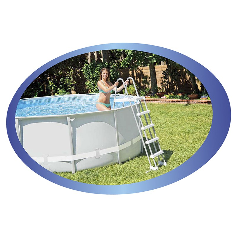 Escalera piscina intex 122 132 outlet piscinas for Oulet piscinas