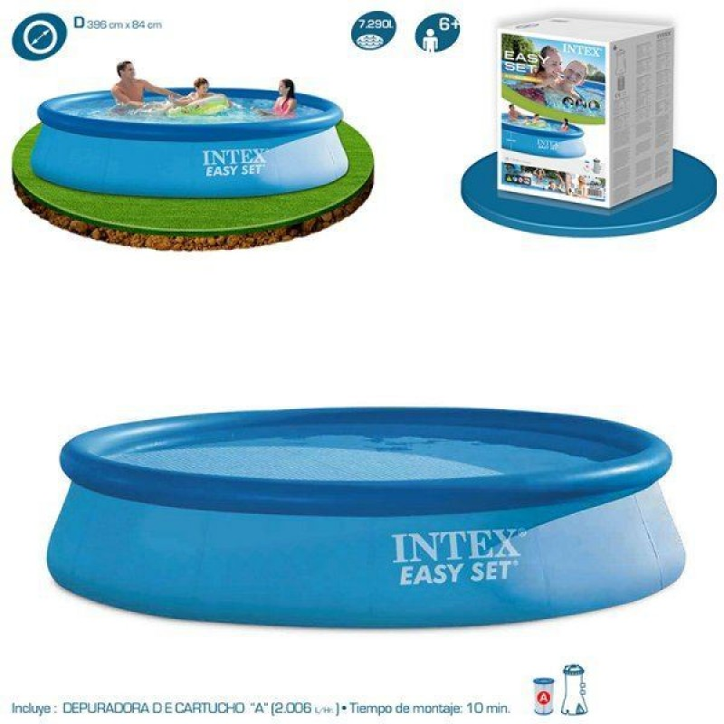 Piscina intex easy set 396x84cm outlet piscinas for Piscina intex easy set