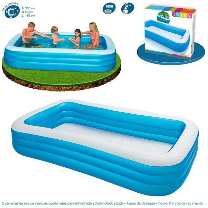 Piscina intex hinchable azul outlet piscinas for Alberca intex